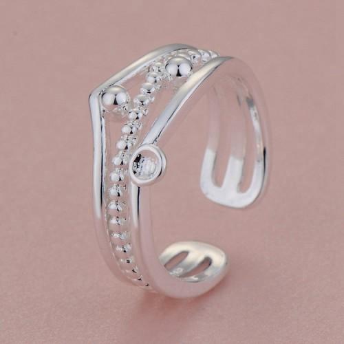Regulowany srebrny pierścionek