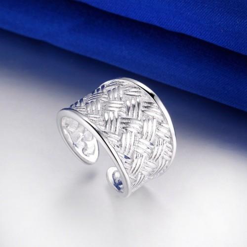 Szeroki i solidny srebrny pierścionek - regulowany rozmiar