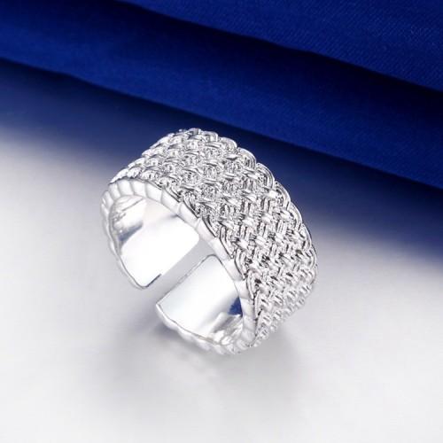 Srebrny ornamentowy pierścionek - rozmiar uniwersalny