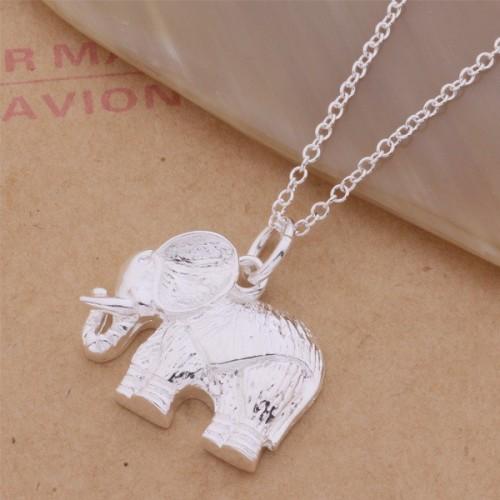 Srebrny naszyjnik - szczęśliwy słoń