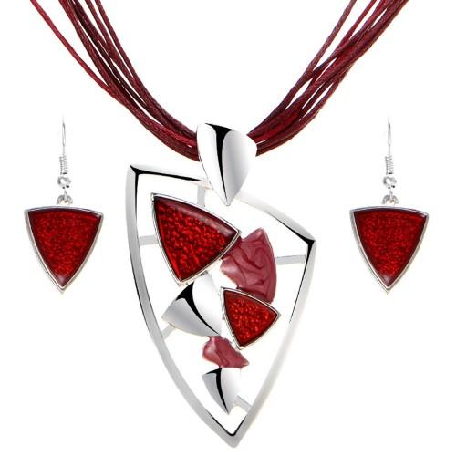 Komplet biżuterii naszyjnik + kolczyki