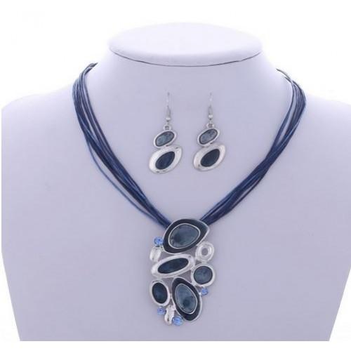 Komplet biżuterii naszyjnik + kolczyki JS042