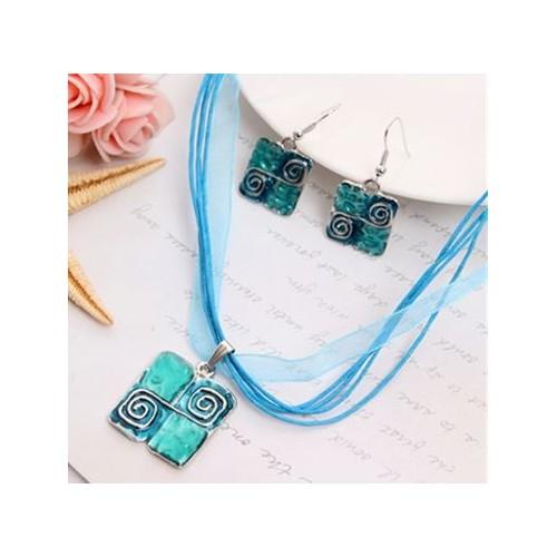 Komplet biżuterii naszyjnik + kolczyki JS045