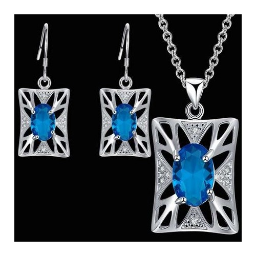 Przepiękny komplet biżuterii naszyjnik + kolczyki JS048