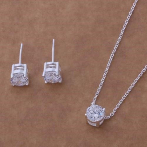 Komplet biżuterii naszyjnik + kolczyki JS053