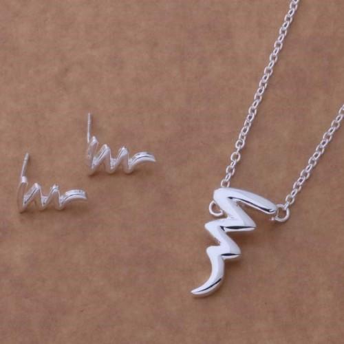 Komplet biżuterii naszyjnik + kolczyki JS061