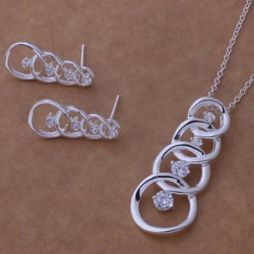 Komplet biżuterii naszyjnik + kolczyki JS064