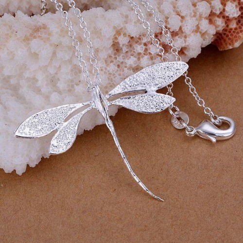 Piękny srebrny naszyjnik NE064