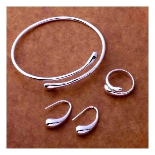 Komplet srebrnej biżuterii JS007