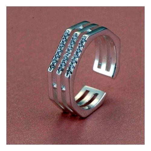Piękny regulowany srebrny pierścionek