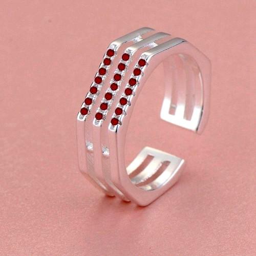 Srebrny pierścionek P046red