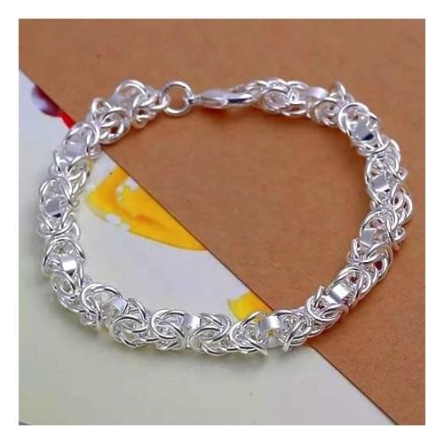 Unikatowa srebrna bransoletka