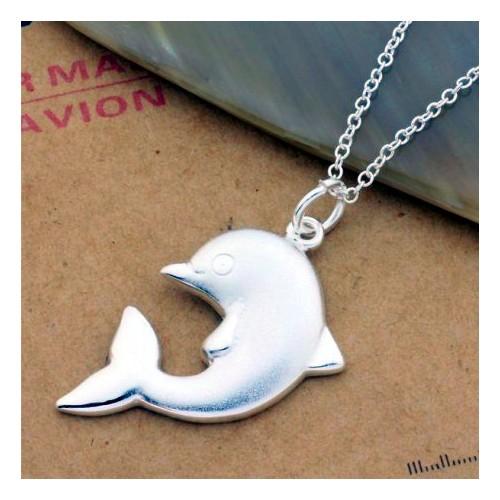 Srebrny naszyjnik - mały delfin