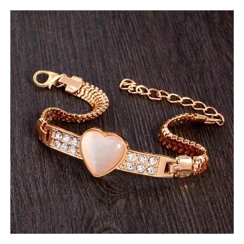 Bogato zdobiona bransoletka z kryształami