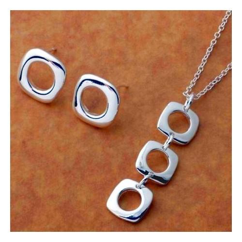 Komplet biżuterii naszyjnik + kolczyki JS052