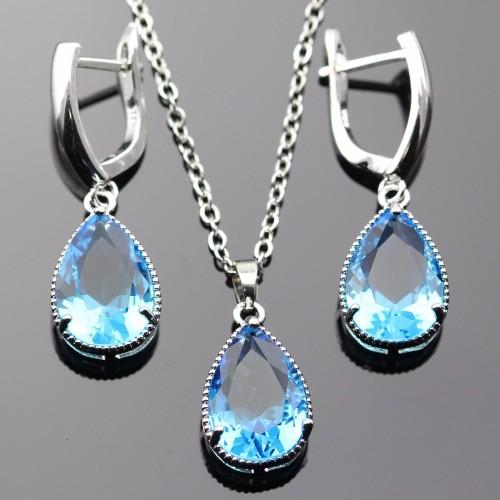Komplet posrebrzanej biżuterii js099