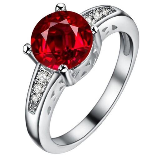 Posrebrzany pierścionek z pięknym kryształem P080