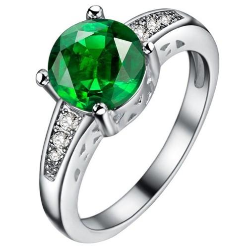 Posrebrzany pierścionek z pięknym kryształem P083