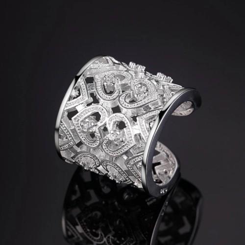 Pierścionek srebrny P010