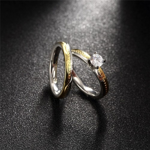 Komplet pozłacanych pierścionków P113