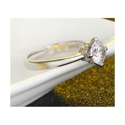 Piękny posrebrzany pierścionek P115