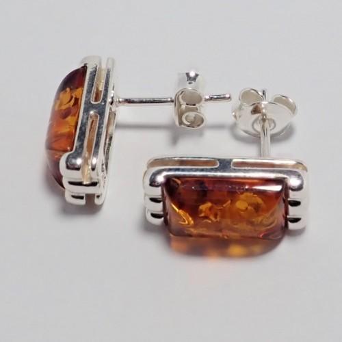 Kolczyki ze srebra i bursztynu aper024