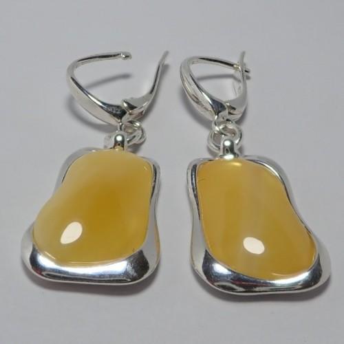 Kolczyki ze srebra i bursztynu aper040