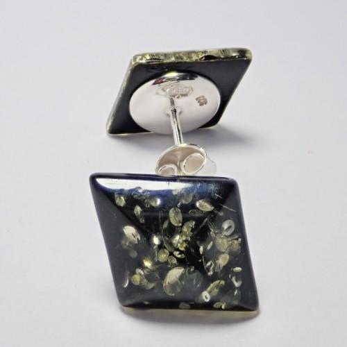 Kolczyki ze srebra i bursztynu aper043