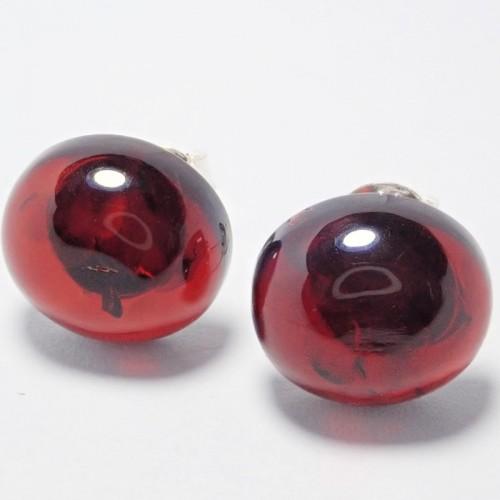 Kolczyki ze srebra i bursztynu aper045