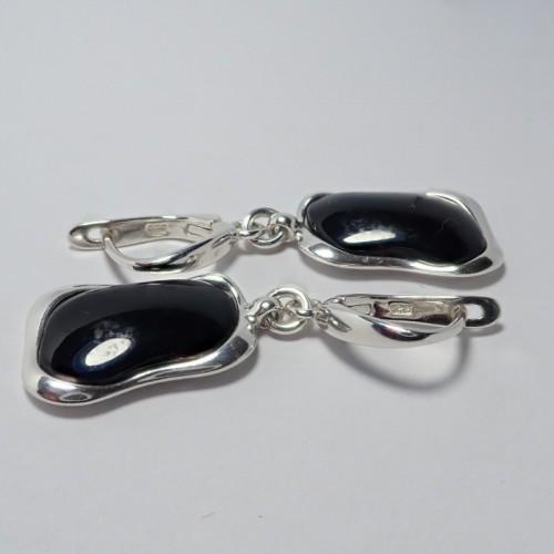 Kolczyki ze srebra i bursztynu aper046