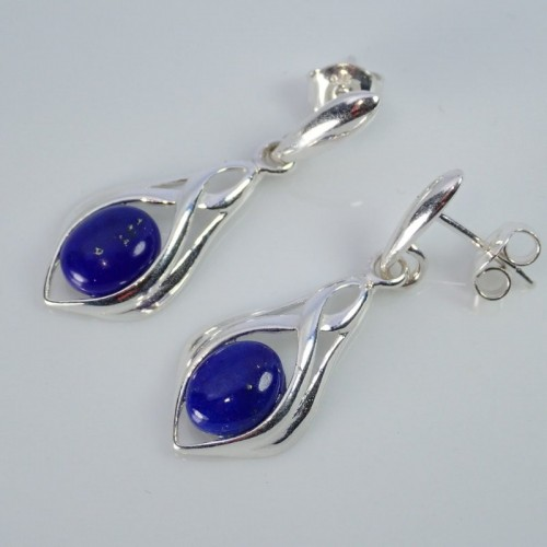 Srebrne kolczyki. Kamień: Lapis Lazuli. Próba 925. LXER008LL-E-B10
