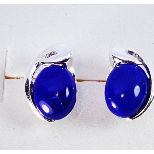 Srebrne kolczyki. Kamień: Lapis Lazuli. Próba 925. LXER010LL-E-C22