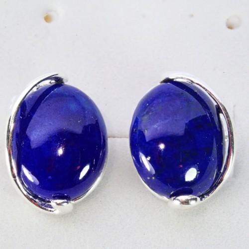Srebrne kolczyki. Kamień: Lapis Lazuli. Próba 925. LXER011LL-E-528
