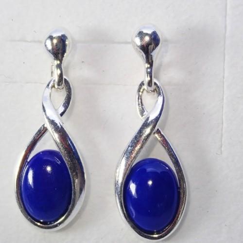 Srebrne kolczyki. Kamień: Lapis Lazuli. Próba 925. LXER059LL