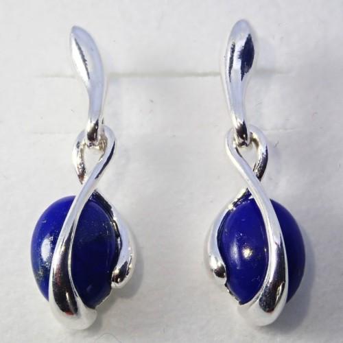 Srebrne kolczyki. Kamień: Lapis Lazuli. Próba 925. LXER061LL