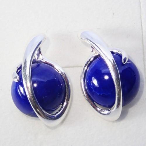 Srebrne kolczyki. Kamień: Lapis Lazuli. Próba 925. LXER062LL