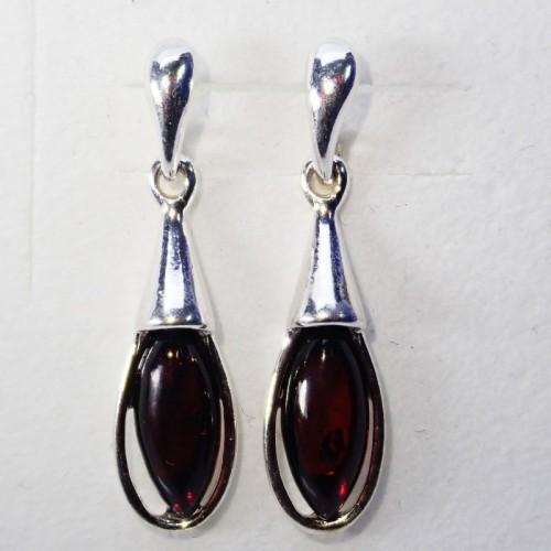 Kolczyki ze srebra i bursztynu LXER073