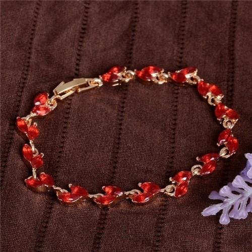 bransoletka z kryształkami