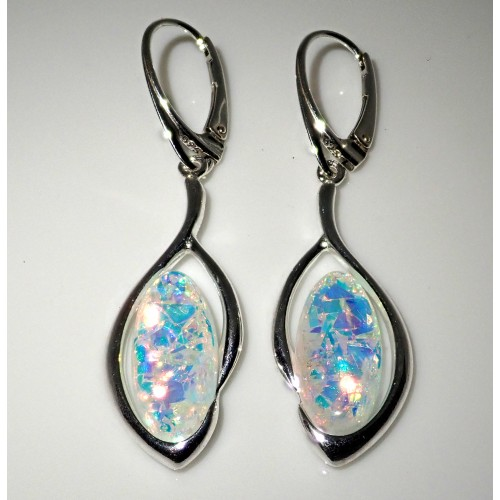 Komplet srebrnej biżuterii. Próba 925. Kamień Opal KJS023O