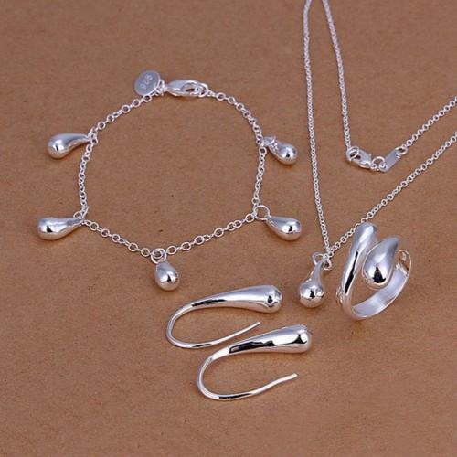 Komplet posrebrzanej biżuterii JS020