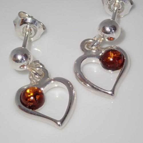Kolczyki ze srebra i bursztynu aper056