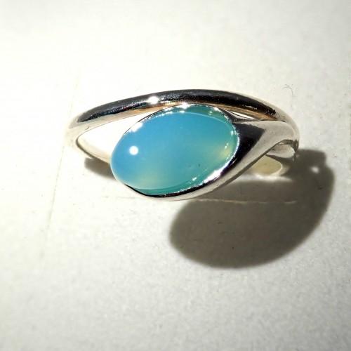 Srebrny pierścionek. Kamień: Agat fuksja. Próba 925. LXP008AF