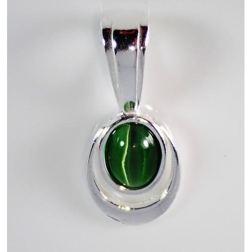 Komplet srebrnej biżuterii. Próba 925. Kamień Noc Kairu KJS013NK