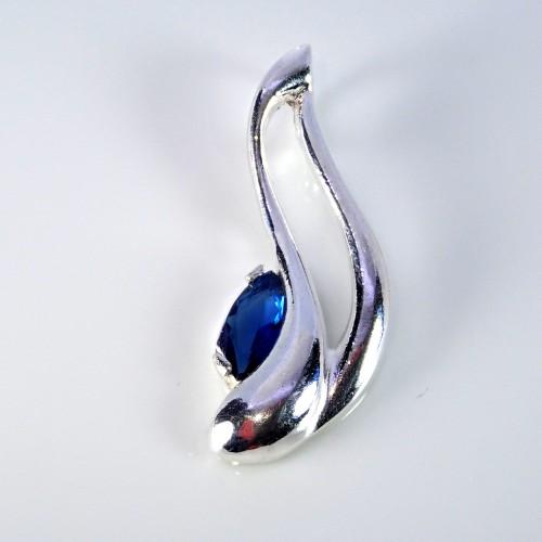 Komplet srebrnej biżuterii. Srebro + cyrkonie Próba 925. KJS015CBL
