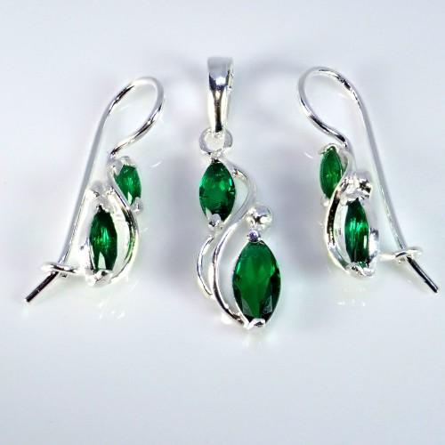 Komplet srebrnej biżuterii. Srebro + cyrkonie Próba 925 KJS043C-BL