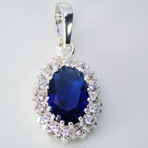 Komplet srebrnej biżuterii. Srebro + cyrkonie Próba 925. KJS041C