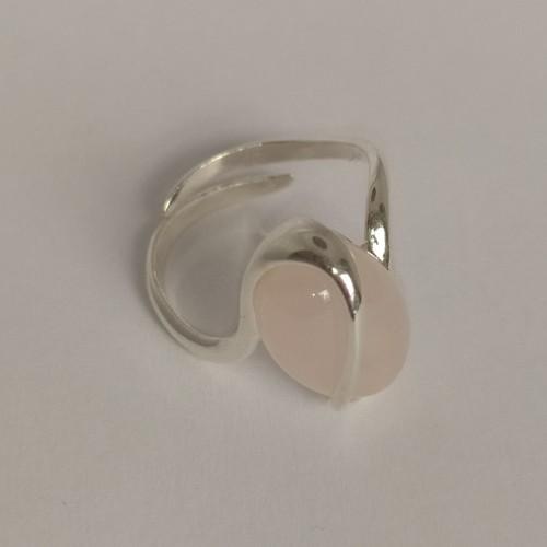 Srebrny pierścionek z różowym agatem. Próba 925. LXP002AS.
