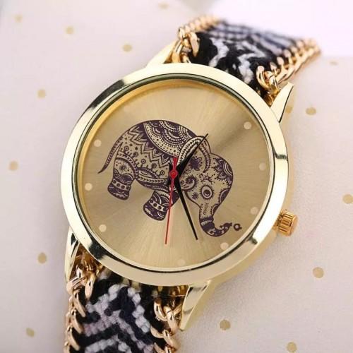 Zegarek z motywem słonika + oryginalny pasek