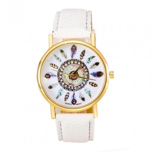 Ciekawy damski zegarek - kolor biały