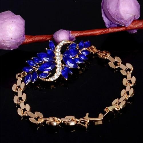 Bransoletka w kolorze złota z przepięknymi kryształami
